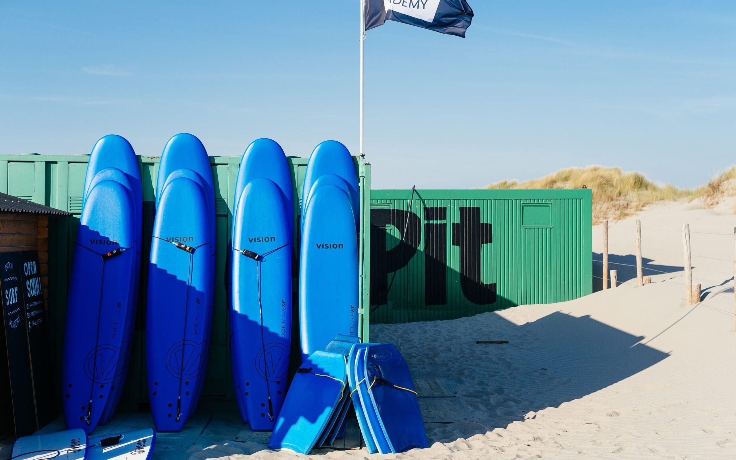 Softop surfboards bij surfschool nederland