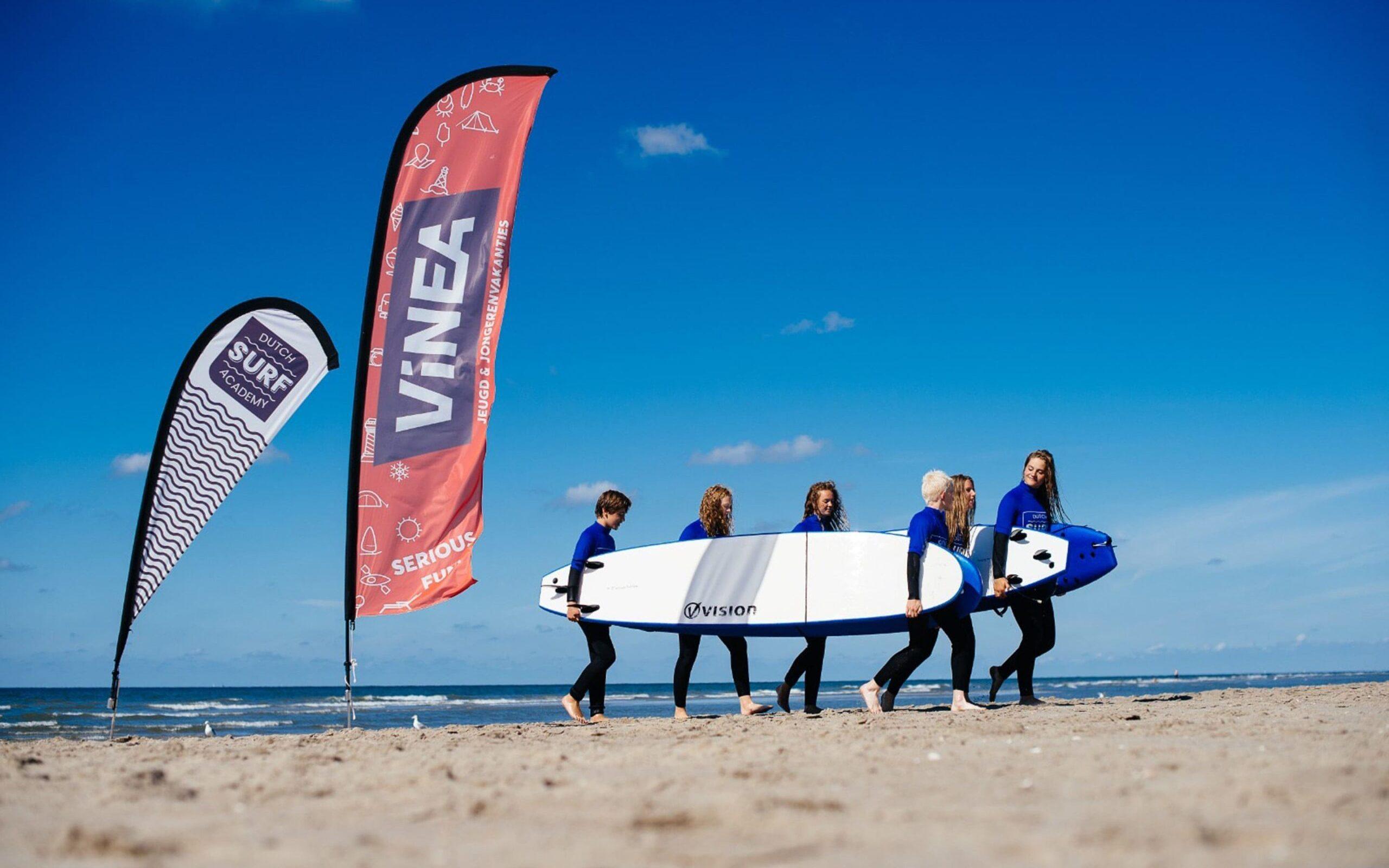 Surfers strand vlaggen surfboards